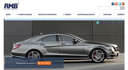 web design and development - RMB Inter Auto